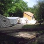 Diósvölgyi telepített sátortábor.